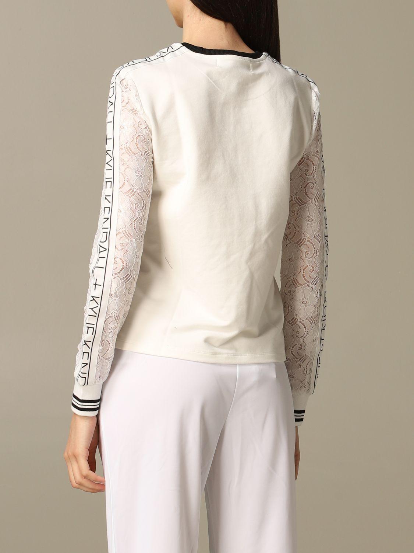 Sweatshirt women Kendall + Kylie white 2