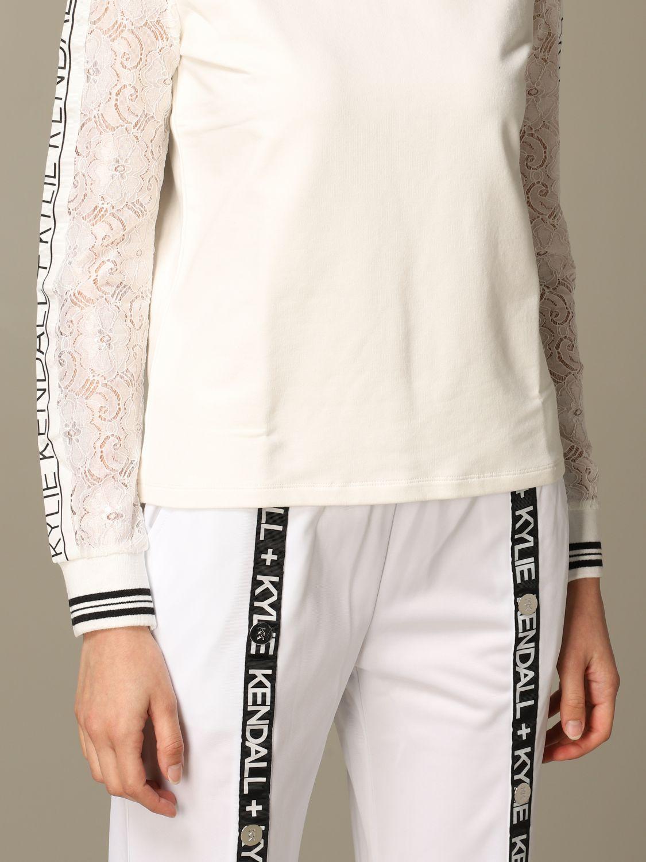 Sweatshirt women Kendall + Kylie white 3