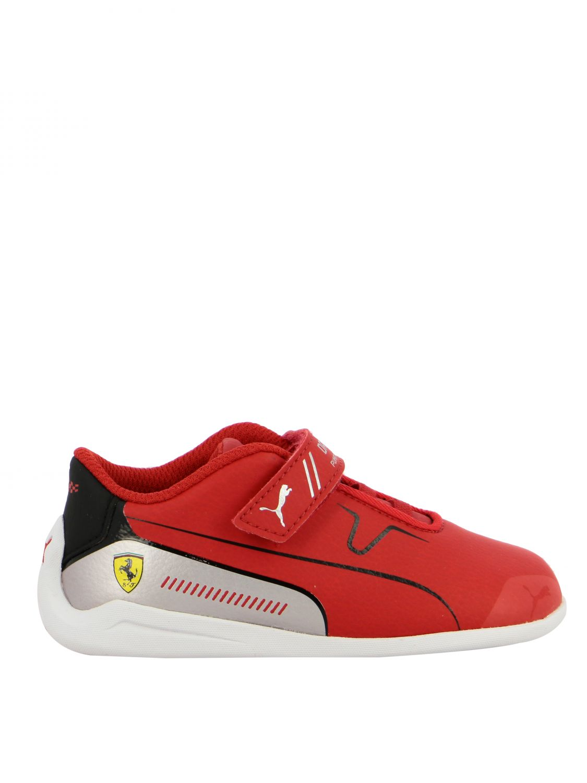 chaussure puma rouge enfant