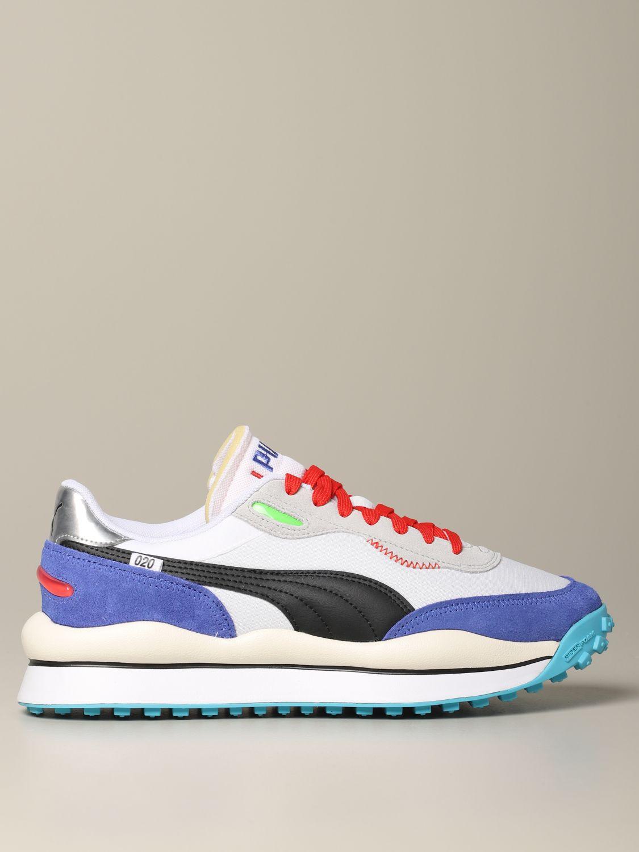 chaussures puma blanc homme