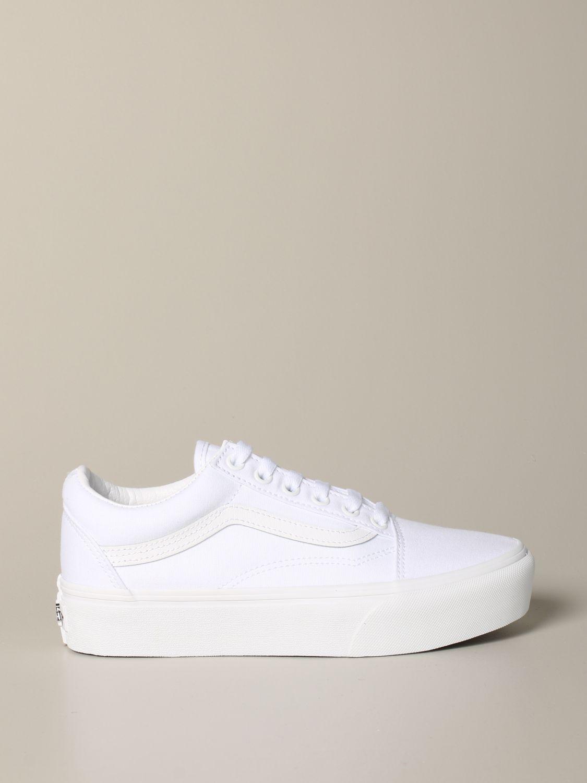 chaussure vans femme blanche
