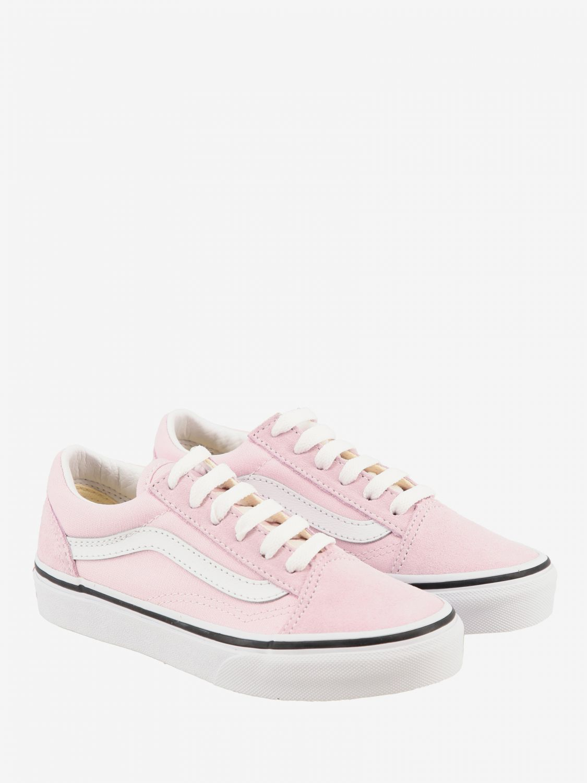 vans rosa pelle