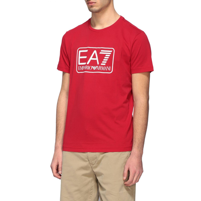 T-shirt Ea7: T-shirt men Ea7 red 4