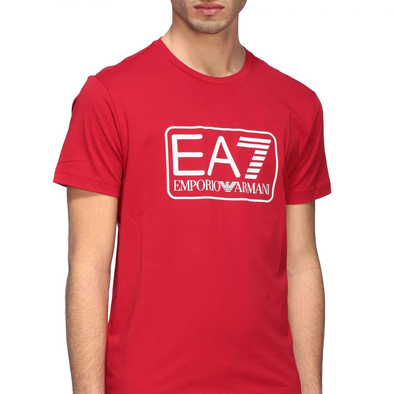 T-shirt Ea7: T-shirt men Ea7 red 5
