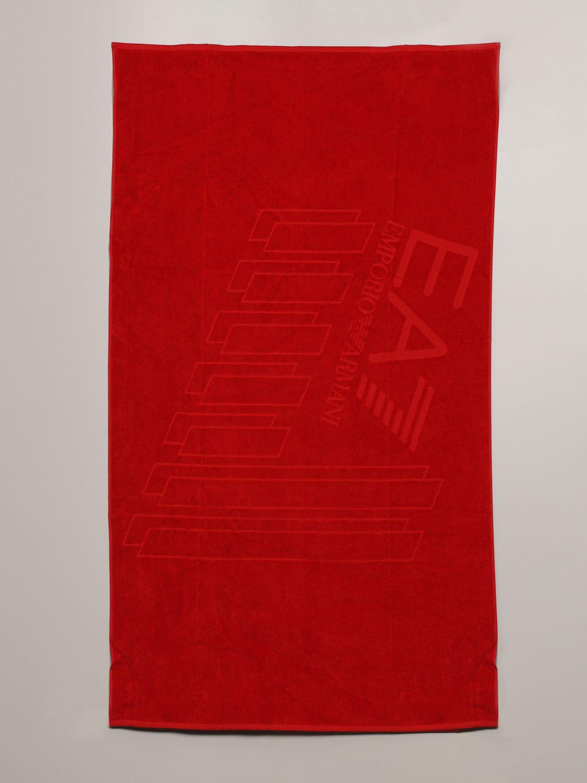 浴巾 Ea7 Swimwear: 浴巾 男士 Ea7 Swimwear 红色 1