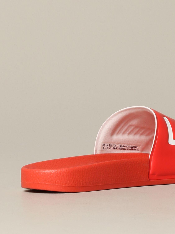 Sandalo EA7 Swimwear in gomma con logo rosso 5