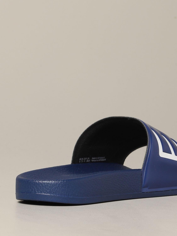 Sandalo EA7 Swimwear in gomma con logo royal 5