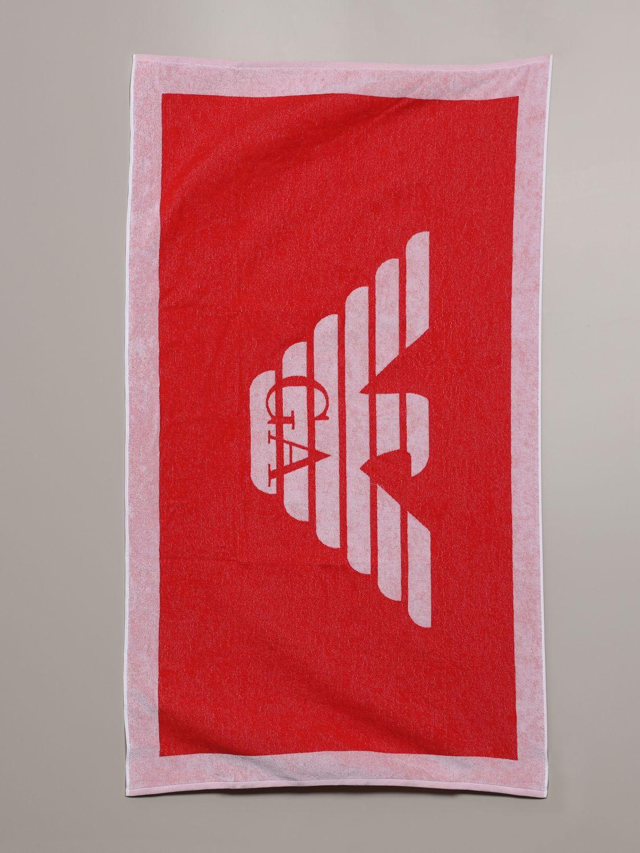 浴巾 E.armani Swimwear 66: 浴巾 男士 E.armani Swimwear 红色 1