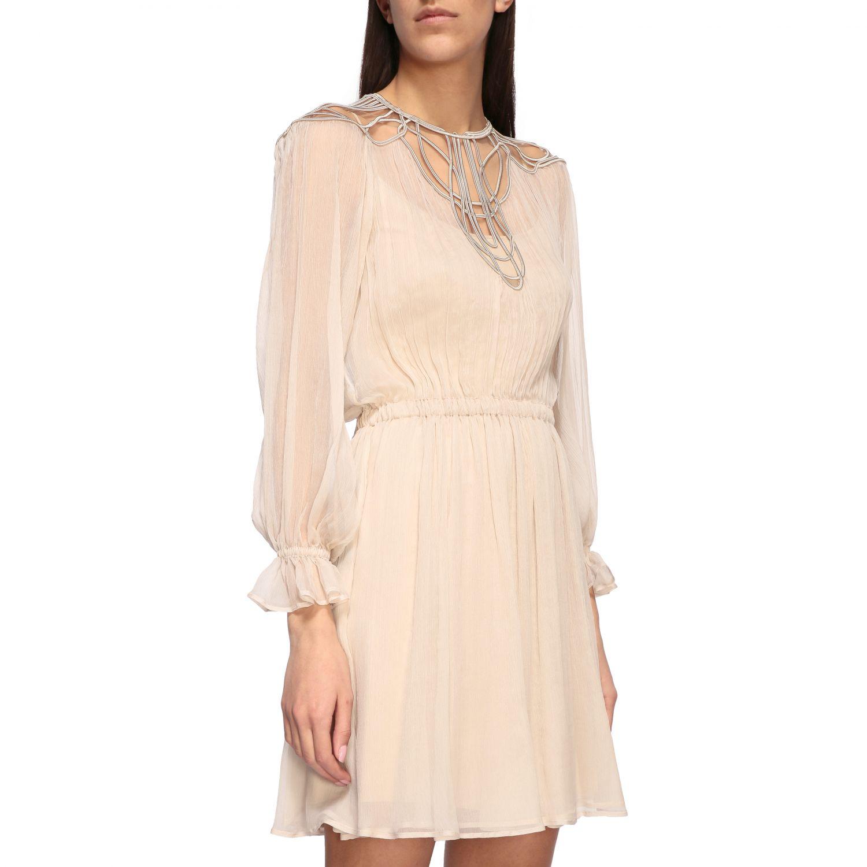 Платье Alberta Ferretti: Платье Женское Alberta Ferretti песочный 4