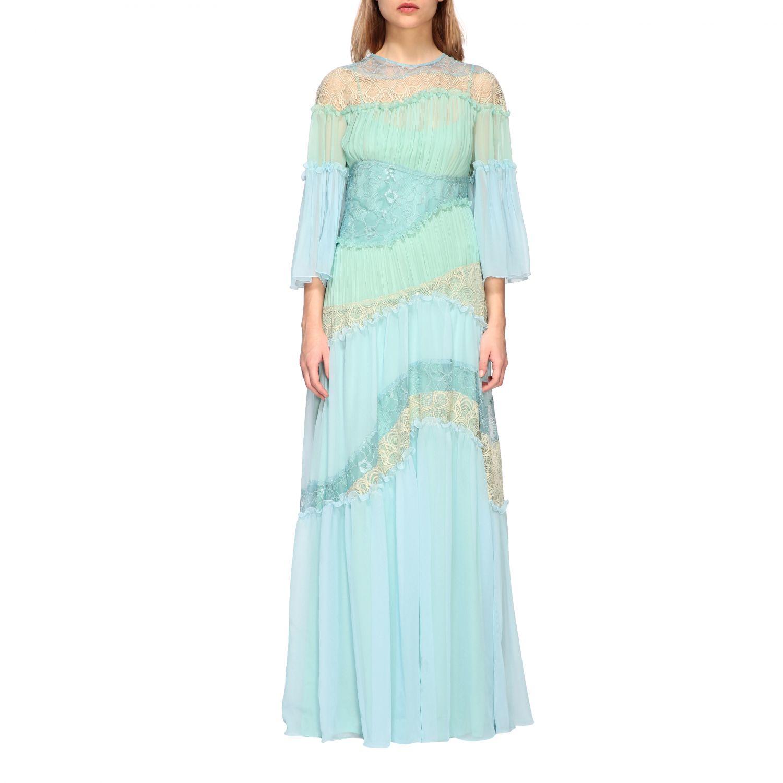 Dress Alberta Ferretti: Dress women Alberta Ferretti gnawed blue 1