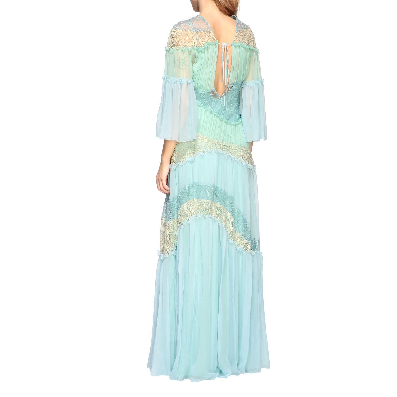 Dress Alberta Ferretti: Dress women Alberta Ferretti gnawed blue 2