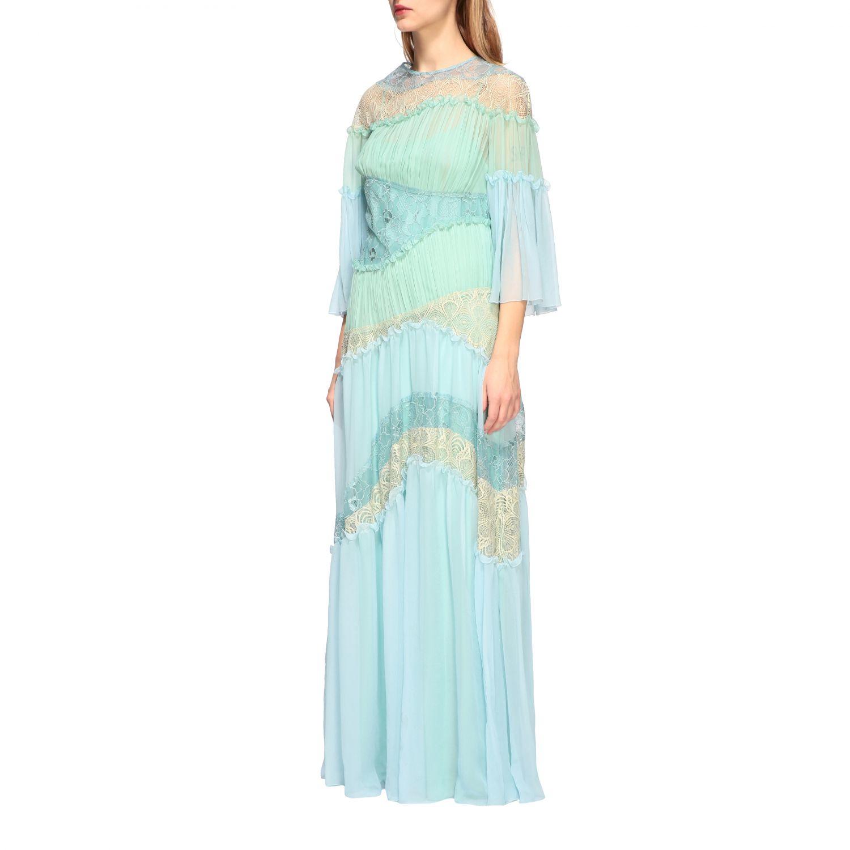 Dress Alberta Ferretti: Dress women Alberta Ferretti gnawed blue 3