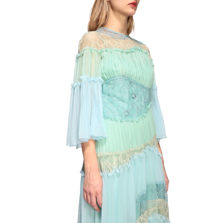 Платье Alberta Ferretti: Платье Женское Alberta Ferretti голубой 4