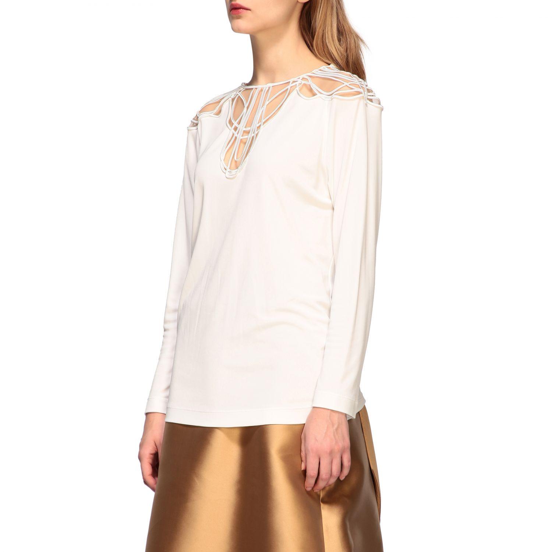 Рубашка Alberta Ferretti: Блузка Женское Alberta Ferretti белый 4