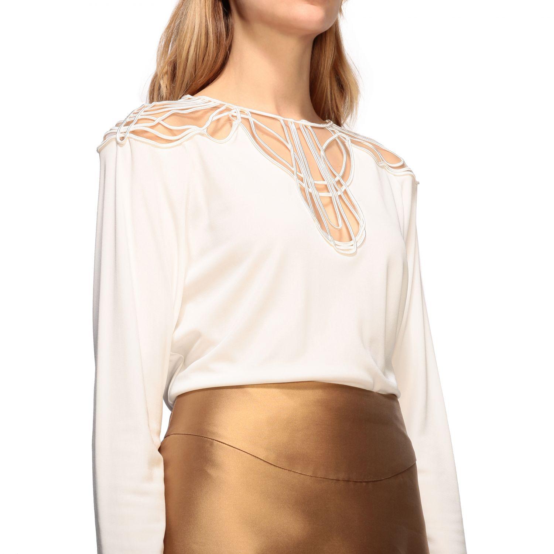 Рубашка Alberta Ferretti: Блузка Женское Alberta Ferretti белый 5