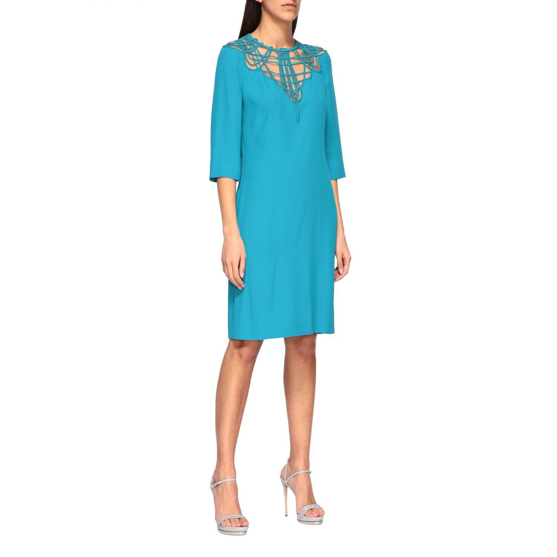 Vestido Alberta Ferretti: Vestido mujer Alberta Ferretti azul oscuro 1