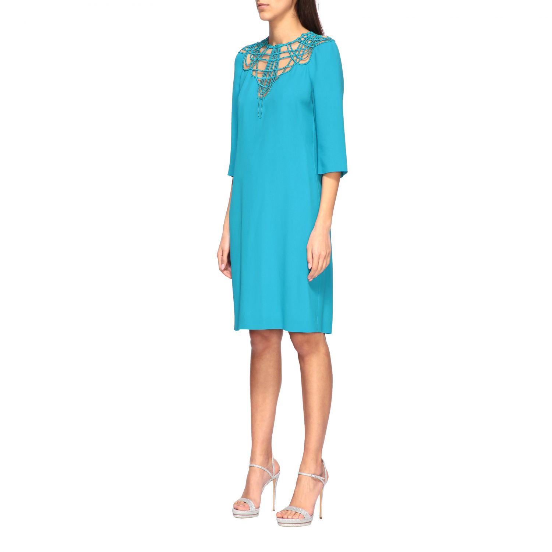 Vestido Alberta Ferretti: Vestido mujer Alberta Ferretti azul oscuro 3
