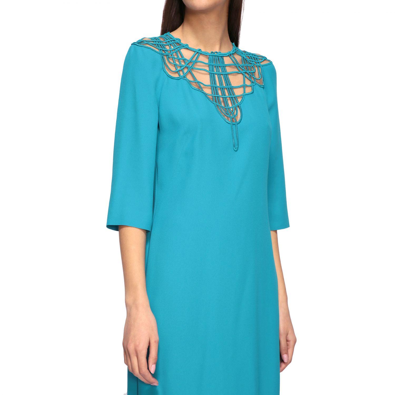 Vestido Alberta Ferretti: Vestido mujer Alberta Ferretti azul oscuro 4