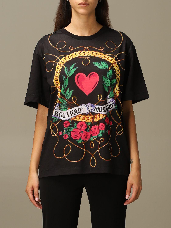 T-Shirt Boutique Moschino: T-shirt women Boutique Moschino black 1