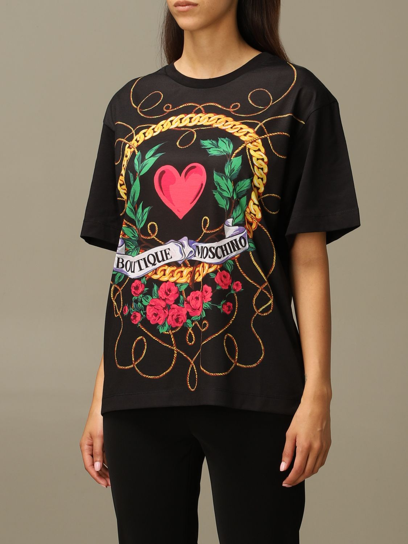 T-Shirt Boutique Moschino: T-shirt women Boutique Moschino black 4