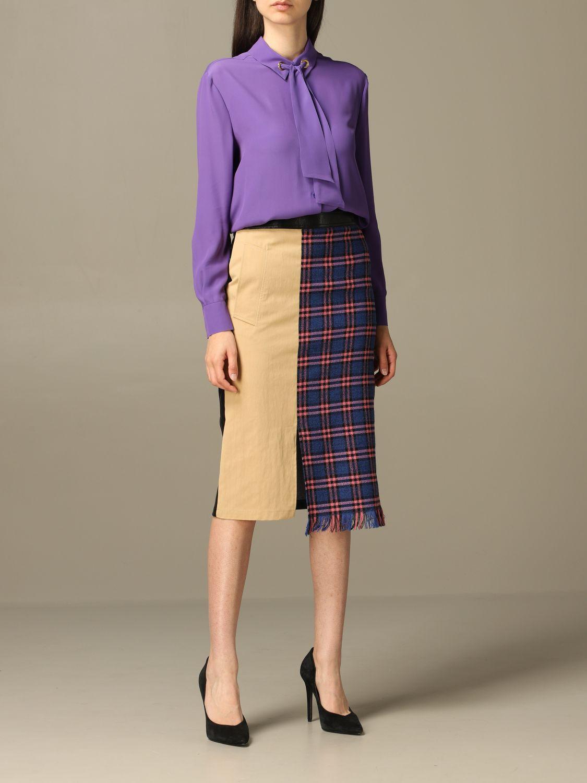 Shirt Boutique Moschino: Shirt women Boutique Moschino violet 2
