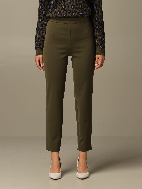 Trousers Boutique Moschino: Trousers women Boutique Moschino green 1