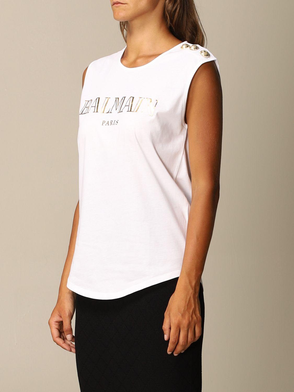 T-Shirt Balmain: T-shirt women Balmain white 4