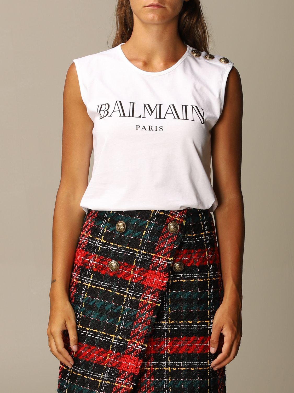 T-Shirt Balmain: T-shirt women Balmain white 1