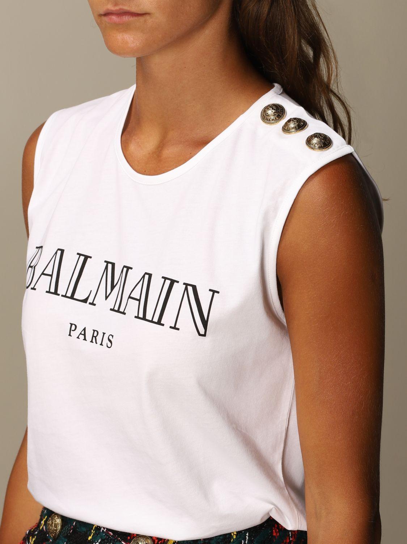 T-Shirt Balmain: T-shirt women Balmain white 5