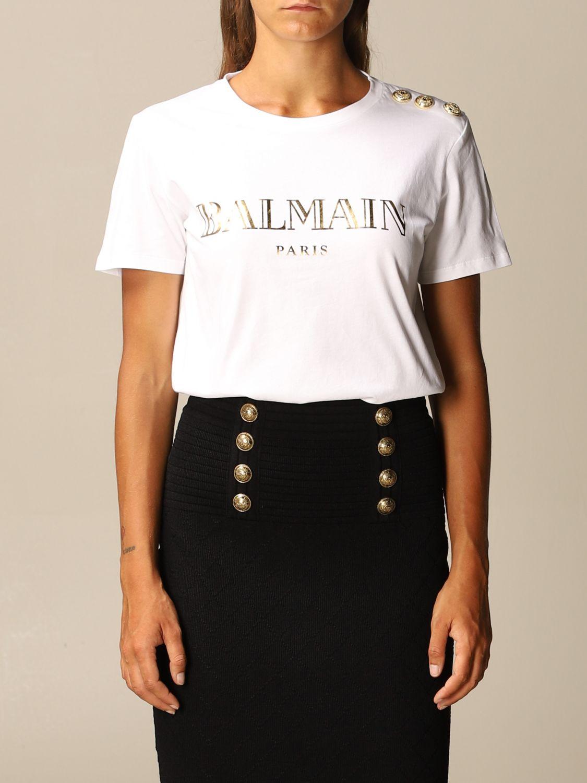 T-Shirt Balmain: T-shirt women Balmain black 1 1