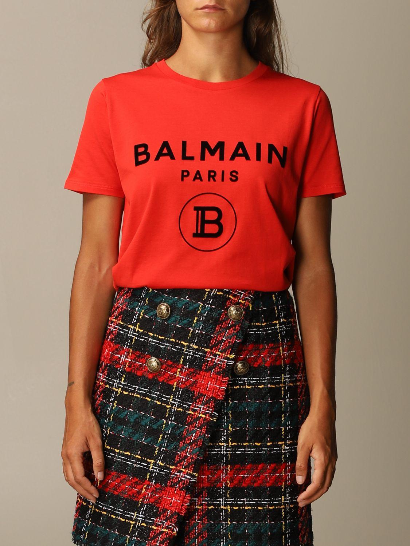 T恤 Balmain: T恤 女士 Balmain 红色 1