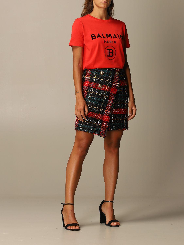 T恤 Balmain: T恤 女士 Balmain 红色 2