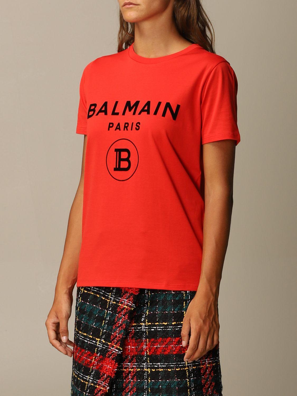 T恤 Balmain: T恤 女士 Balmain 红色 4