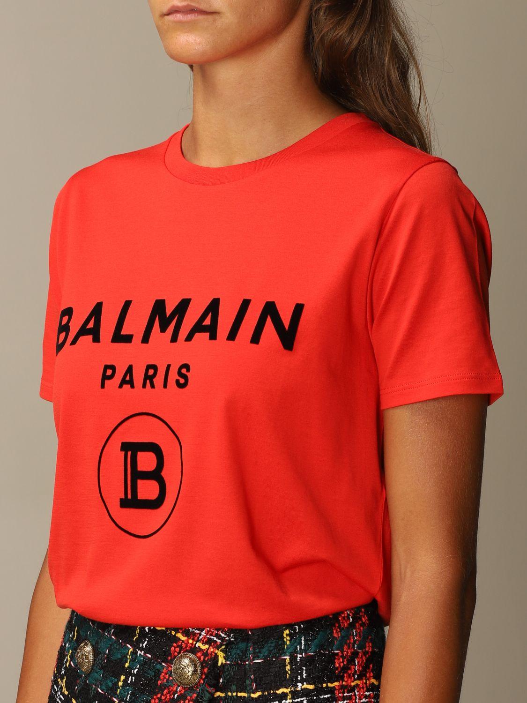 T恤 Balmain: T恤 女士 Balmain 红色 5