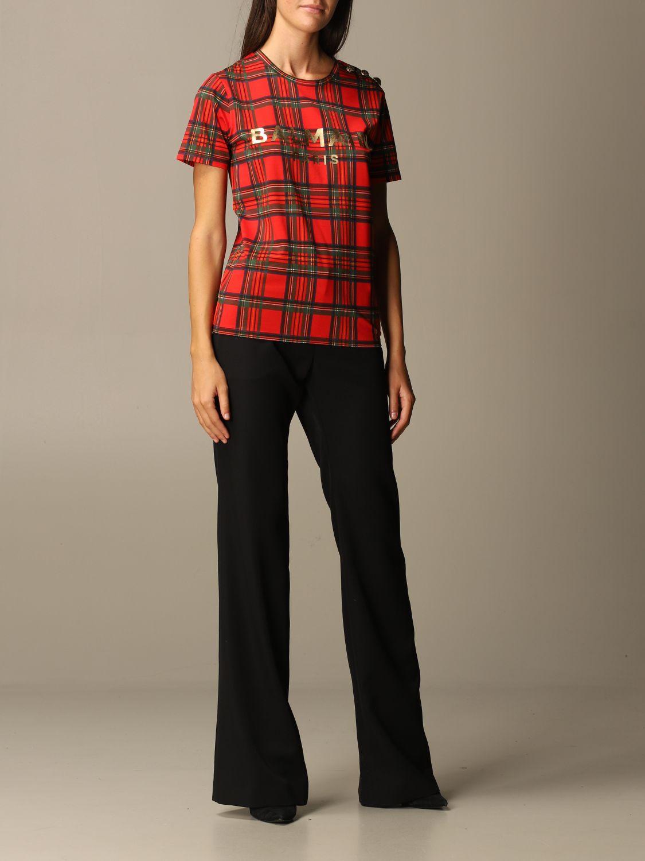 T-Shirt Balmain: T-shirt women Balmain red 2