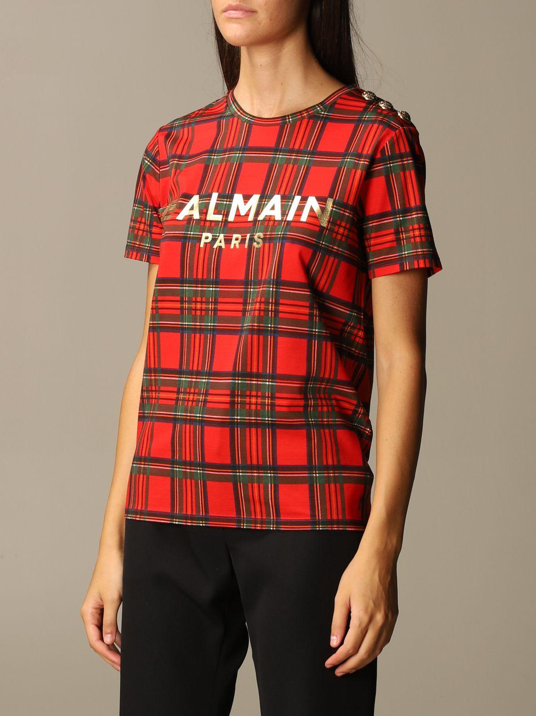 T-Shirt Balmain: T-shirt women Balmain red 4