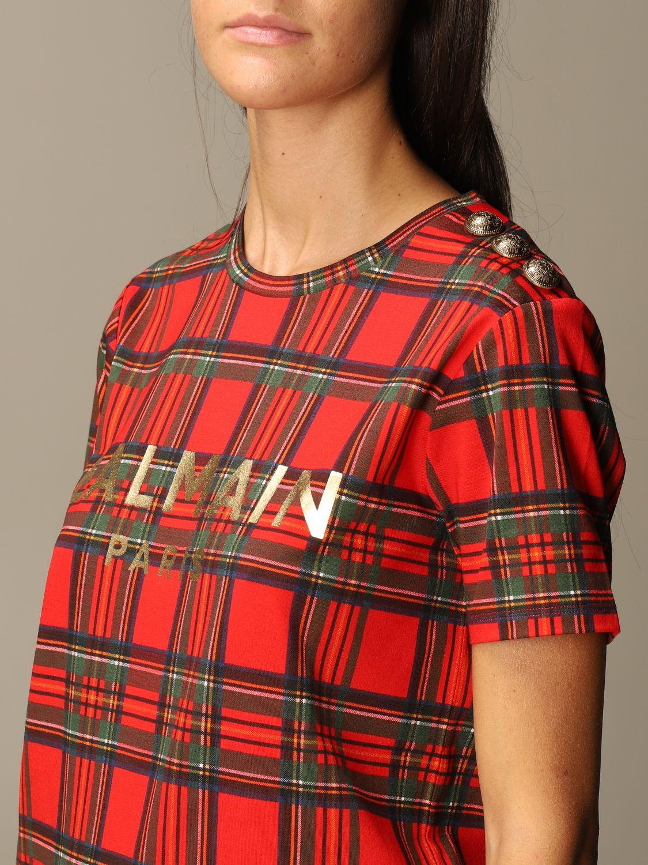 T-Shirt Balmain: T-shirt women Balmain red 5