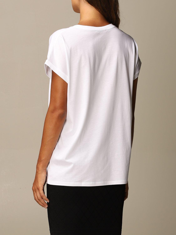T-Shirt Balmain: Balmain cotton T-shirt with mini flock logo white 3