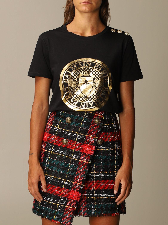 T-Shirt Balmain: T-shirt women Balmain black 1