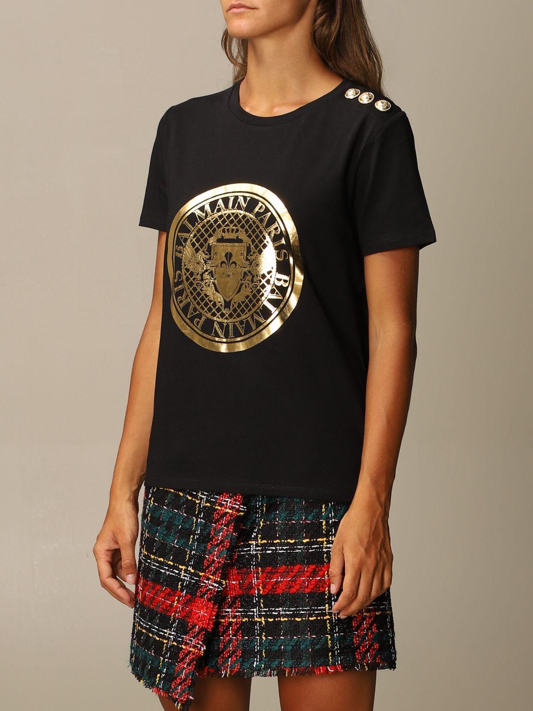 T-Shirt Balmain: T-shirt women Balmain black 4