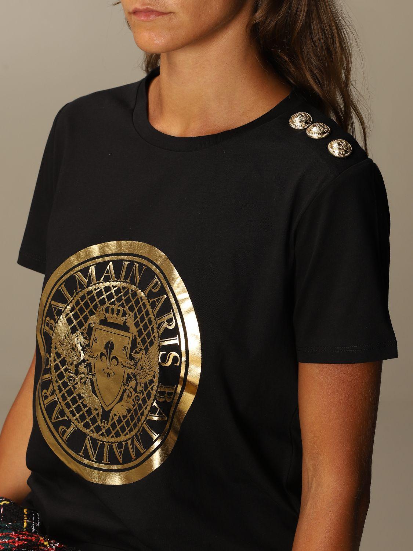 T-Shirt Balmain: T-shirt women Balmain black 5