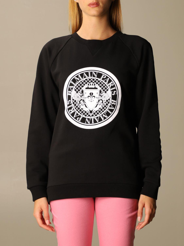 Sweatshirt Balmain: Sweatshirt women Balmain black 1