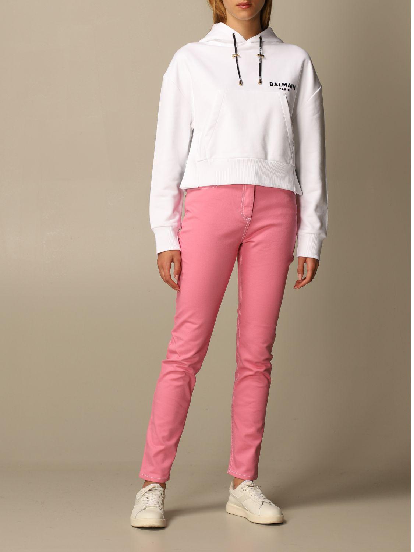 Sweatshirt Balmain: Sweatshirt women Balmain white 2