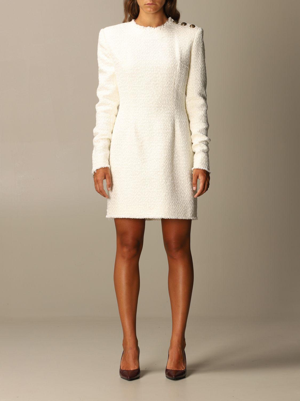 Dress Balmain: Dress women Balmain white 1