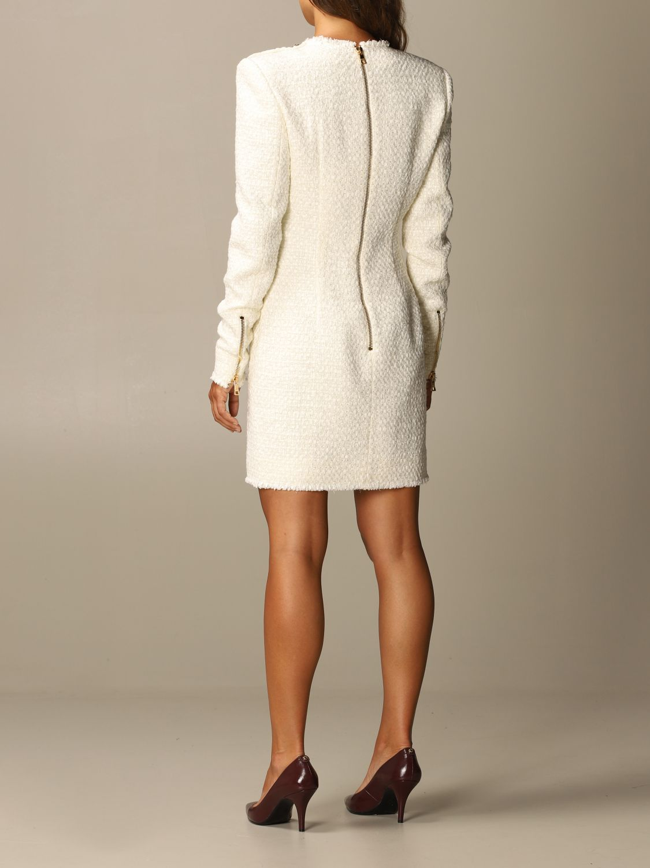 Dress Balmain: Dress women Balmain white 2