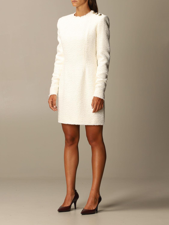 Dress Balmain: Dress women Balmain white 3