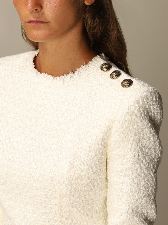 Dress Balmain: Dress women Balmain white 4
