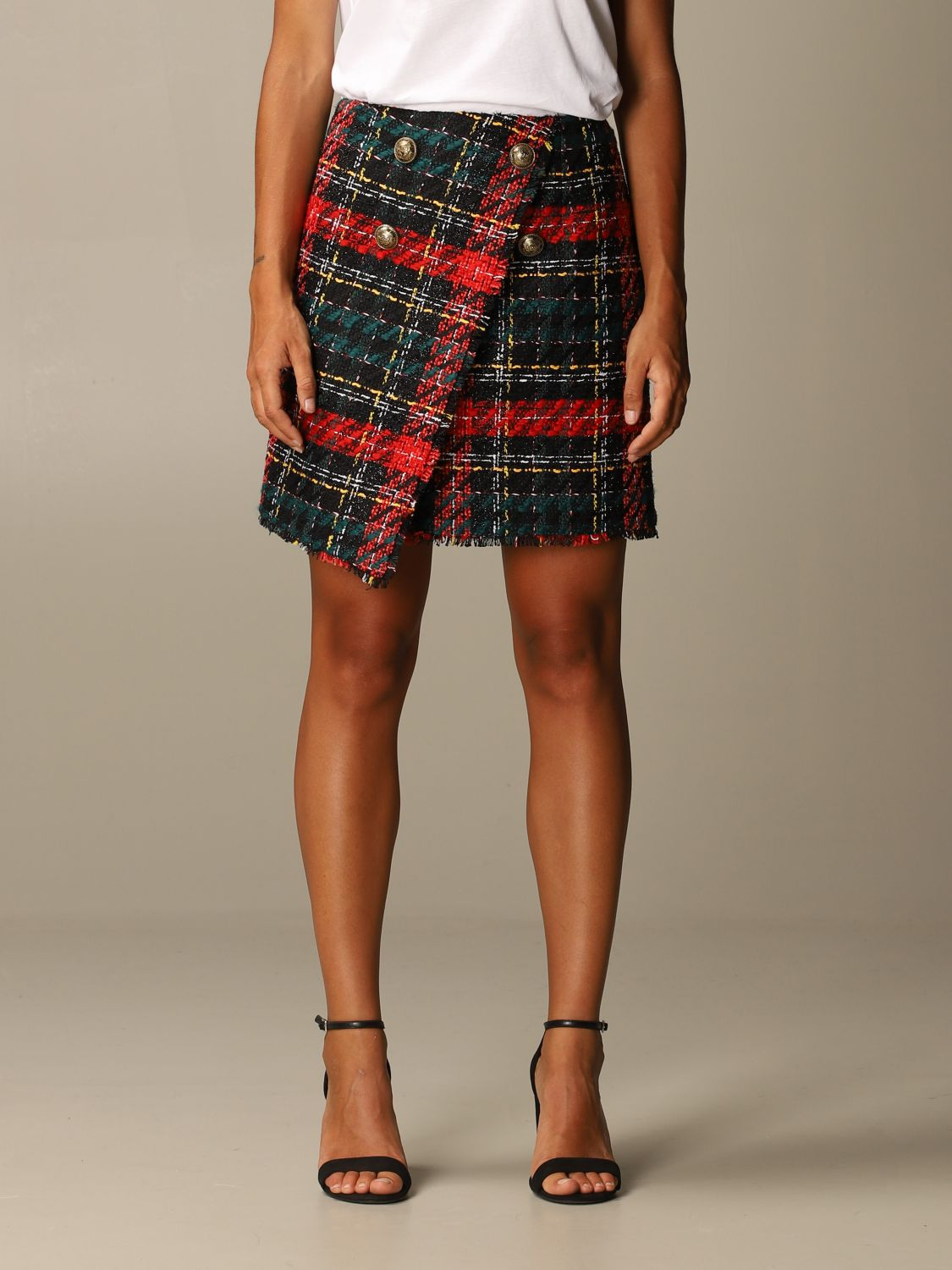 Skirt Balmain: Skirt women Balmain red 1