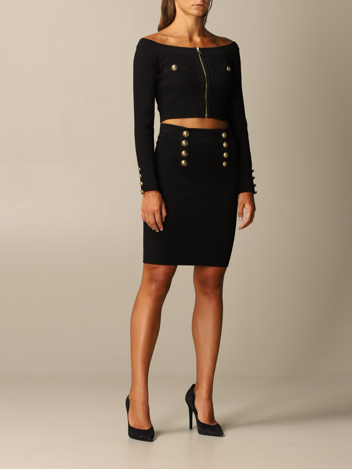 Skirt Balmain: Skirt women Balmain black 2