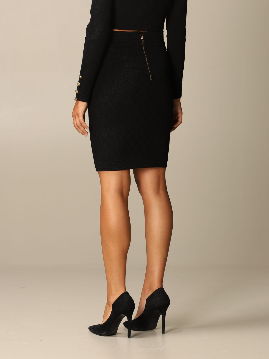 Skirt Balmain: Skirt women Balmain black 3